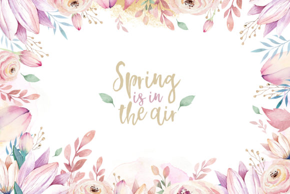 Spring & Love Watercolor Collection Graphic Illustrations By kristinakvilis - Image 7