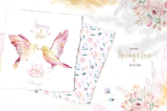 Spring & Love Watercolor Collection Graphic Illustrations By kristinakvilis - Image 8
