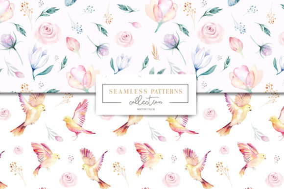 Spring & Love Watercolor Collection Graphic Illustrations By kristinakvilis - Image 9