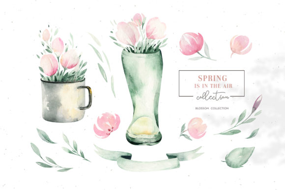 Download Free Spring Is In The Air Collection Graphic By Kristinakvilis for Cricut Explore, Silhouette and other cutting machines.