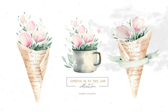 Spring is in the Air Collection Graphic Illustrations By kristinakvilis - Image 4