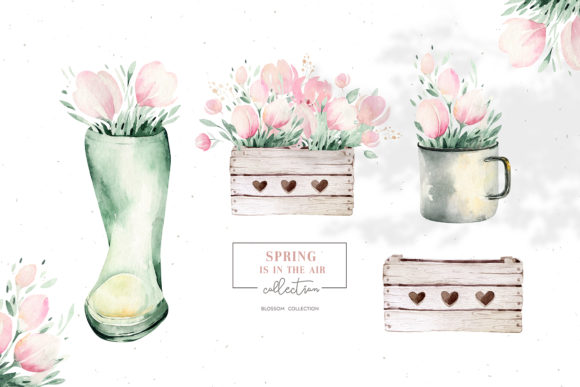 Spring is in the Air Collection Graphic Illustrations By kristinakvilis - Image 6