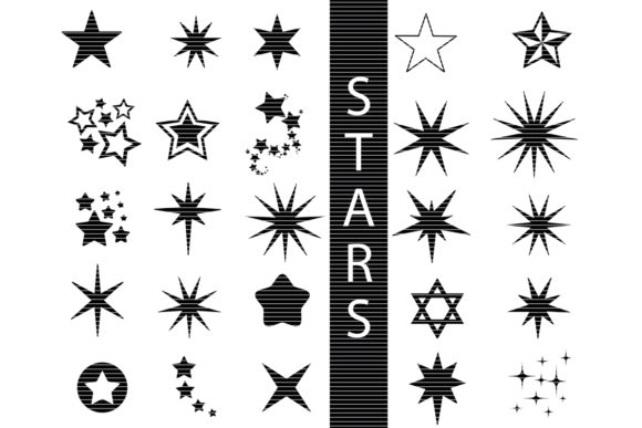 Download Free Star Bundle Graphic By Meshaarts Creative Fabrica SVG Cut Files