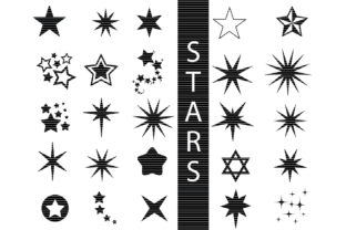 Download Free Star Bundle Graphic By Meshaarts Creative Fabrica for Cricut Explore, Silhouette and other cutting machines.