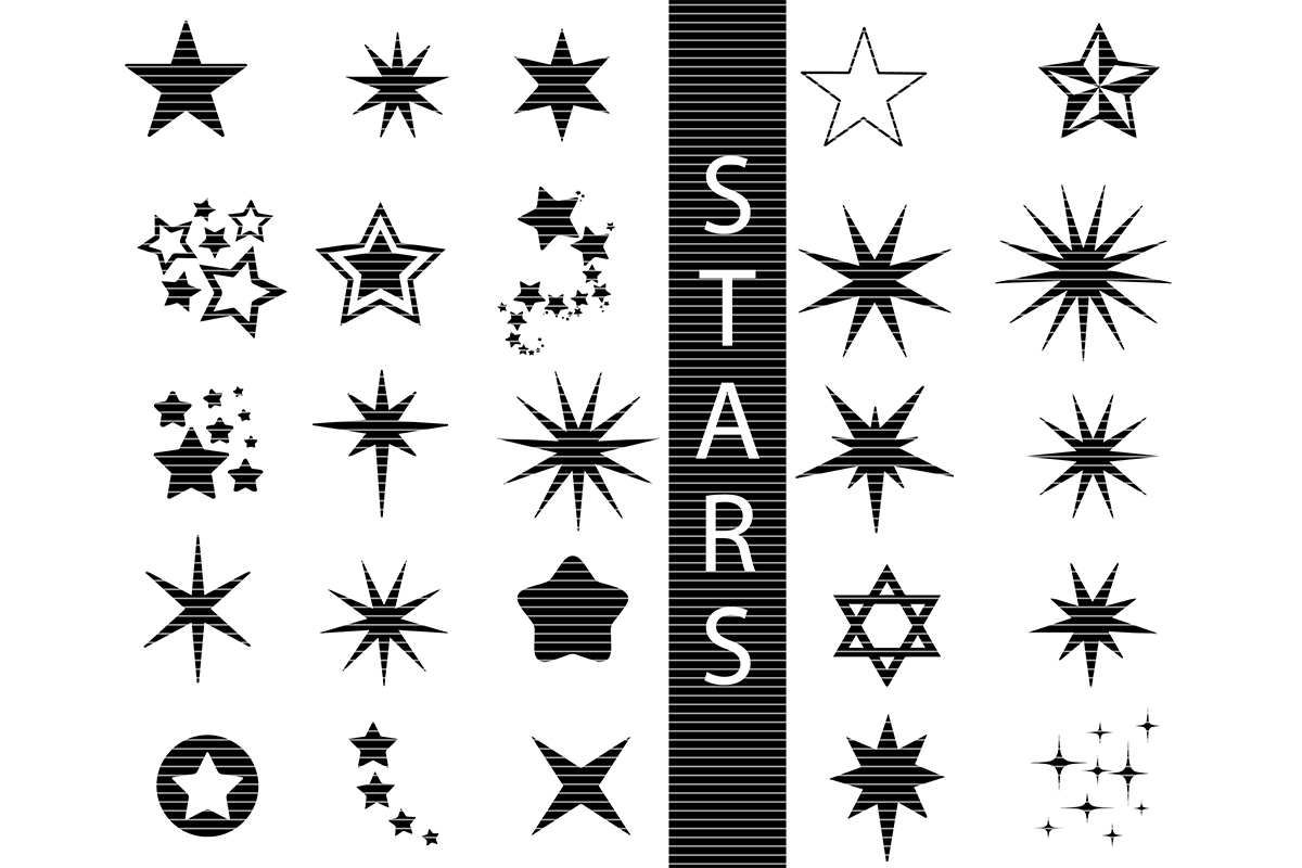 Download Free Star Bundle Grafico Por Meshaarts Creative Fabrica for Cricut Explore, Silhouette and other cutting machines.