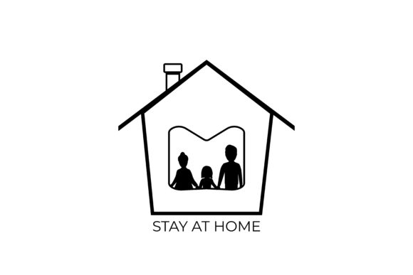 Print on Demand: Stay at Home Corona Virus Prevention Graphic Icons By ngabeivector