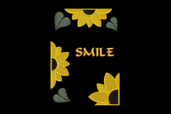Print on Demand: Sunflower, Smile! Inspirational Embroidery Design By Embroidery Shelter - Image 1