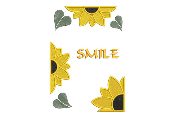 Print on Demand: Sunflower, Smile! Inspirational Embroidery Design By Embroidery Shelter - Image 2
