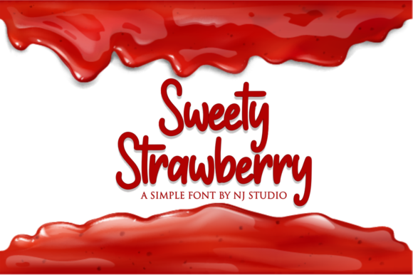 Print on Demand: Sweety Strawberry Script & Handwritten Font By NJStudio