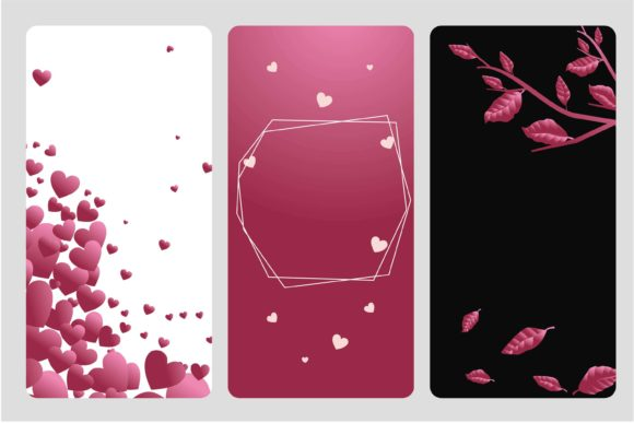 Template Valentine Greeting Card Graphic