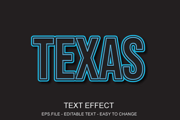 Texas Font Effect Style Graphic Layer Styles By ve.art09