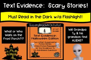 Text Evidence:  Scary Stories Graphic 3rd grade By Reading Teacher On The Run