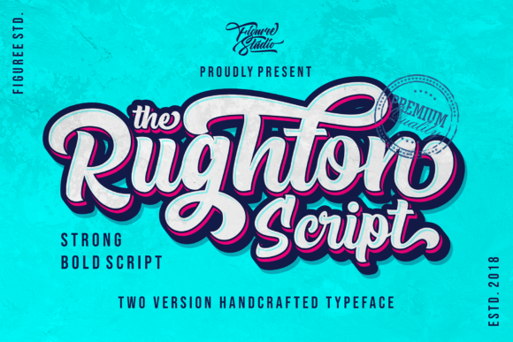Print on Demand: The Rughton Script & Handwritten Font By figuree studio