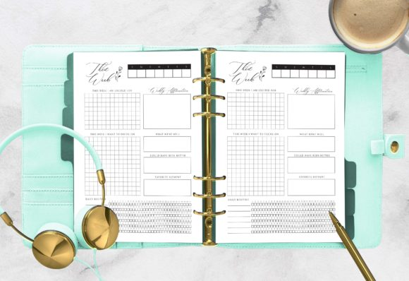 Print on Demand: This Week | Planner Printable A5 Rings Gráfico Plantillas para Impresión Por planfantastic