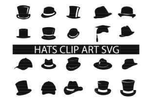 Download Free Top Hat Bundle Graphic By Meshaarts Creative Fabrica for Cricut Explore, Silhouette and other cutting machines.