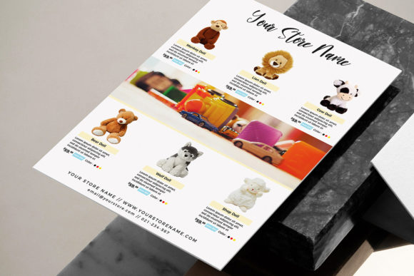 Toys Product Flyer Template Promotion Graphic Print Templates By ivanjoys19