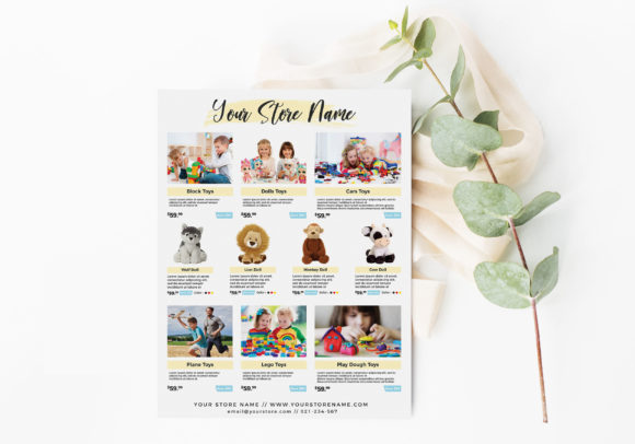 Toys Product Flyer Template for Sale Graphic Print Templates By ivanjoys19