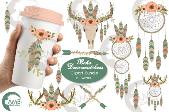Tribal Dreamcatcher Clipart Graphic Illustrations By AMBillustrations - Image 1