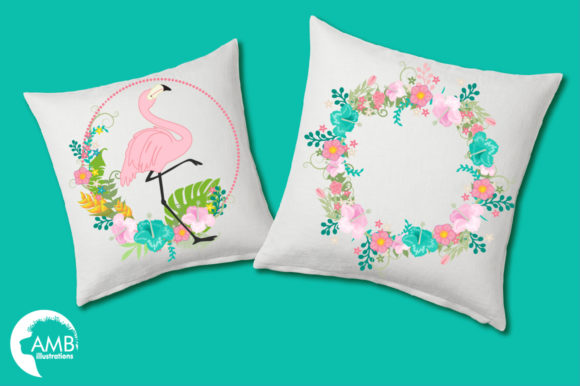 Tropical Flamingos Clipart Graphic Illustrations By AMBillustrations - Image 3
