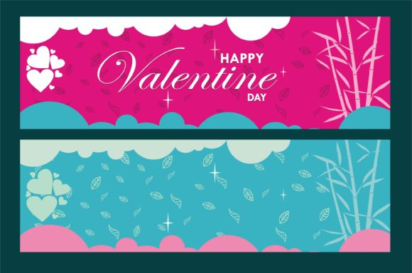 Valentine Banner Graphic Product Mockups By edywiyonopp
