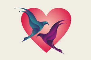 Print on Demand: Vector of a Valentine Bird Graphic Backgrounds By edywiyonopp