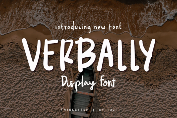 Print on Demand: Verbally Display Font By twinletter