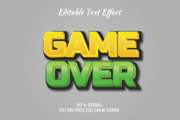 Print on Demand: Video Game Text Effect Graphic Style Graphic Layer Styles By anomali.bisu