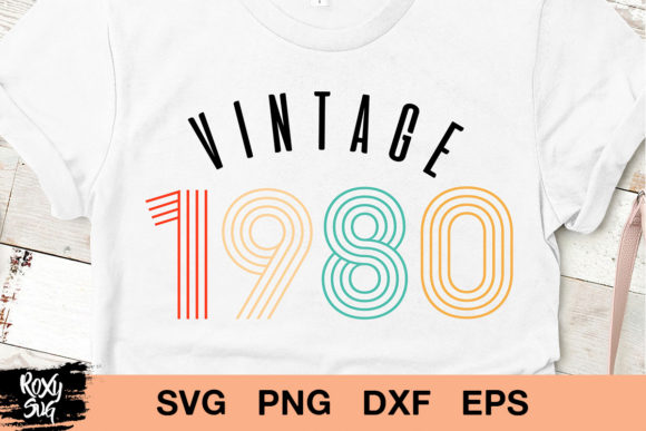 Download Free Vintage 1980 40th Birthday Graphic By Roxysvg26 Creative Fabrica for Cricut Explore, Silhouette and other cutting machines.
