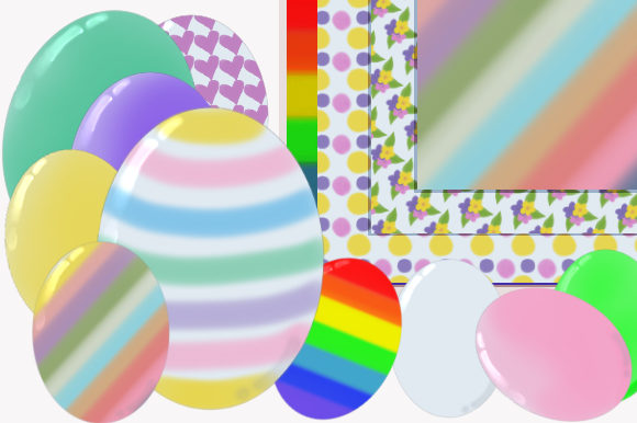 Watercolor Easter Egg Clipart Pattern Graphic Illustrations By Lynx and Fairytale