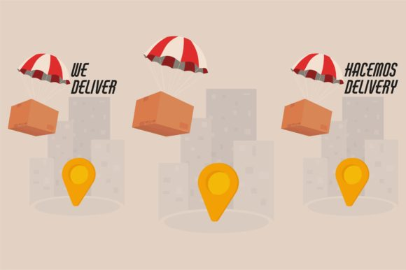 Download Free We Deliver Hacemos Delivery Graphic By Arausidp Creative Fabrica for Cricut Explore, Silhouette and other cutting machines.