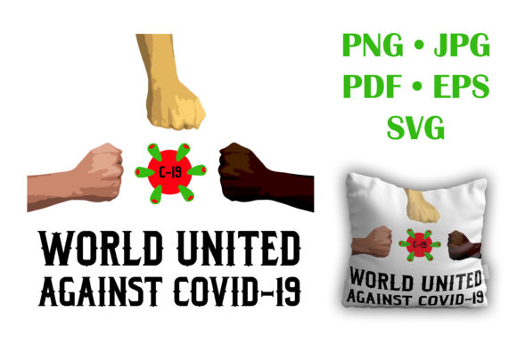 World United Against Covid-19 Graphic Crafts By vessto