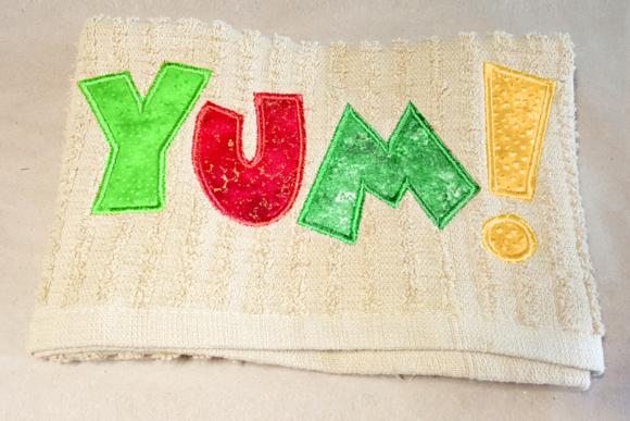 Yum! Applique Embroidery Food & Dining Embroidery Design By DesignedByGeeks