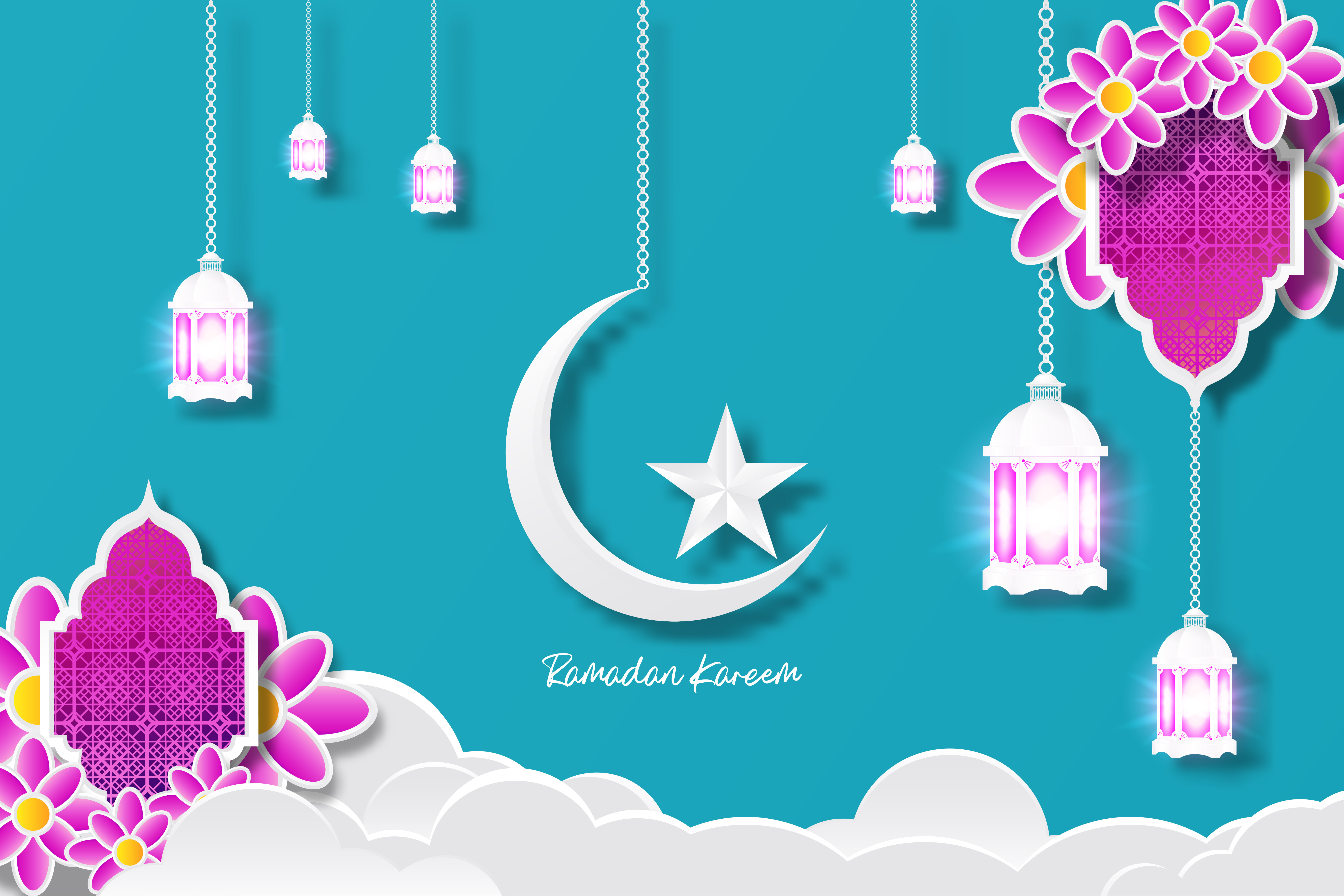 Download Free Ramadan Kareem Islamic Design Graphic By Ngabeivector Creative for Cricut Explore, Silhouette and other cutting machines.