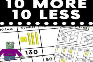 10 More 10 Less Visual Worksheet Graphic K By Saving The Teachers
