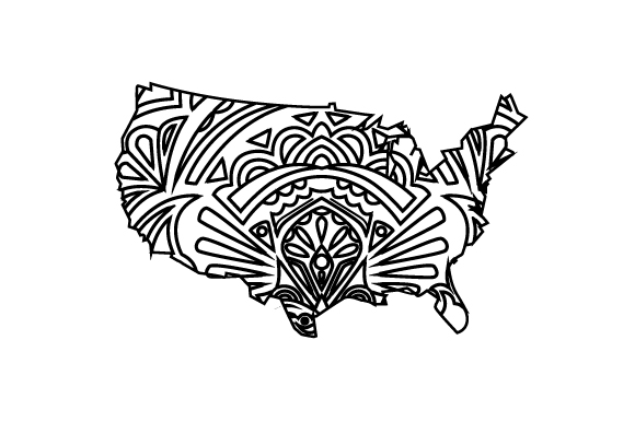 Us Outline Mandala Svg Cut File By Creative Fabrica Crafts