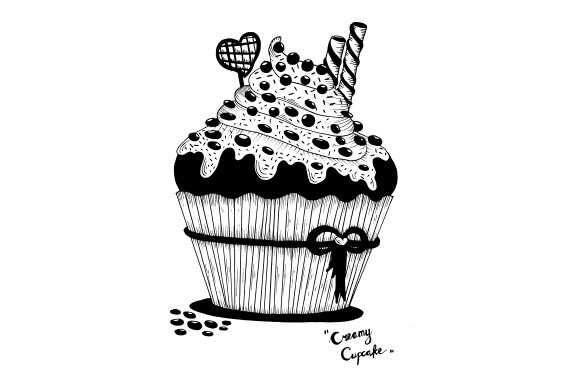 Download Free 20 Handrawn Cupcakes Graphic By Fillo Graphic Creative Fabrica for Cricut Explore, Silhouette and other cutting machines.
