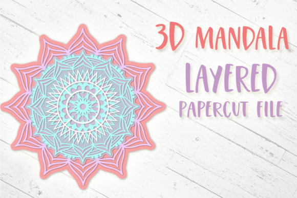 Print on Demand: 3D Mandala || 3D Papercut Mandala Graphic 3D SVG By tatiana.cociorva