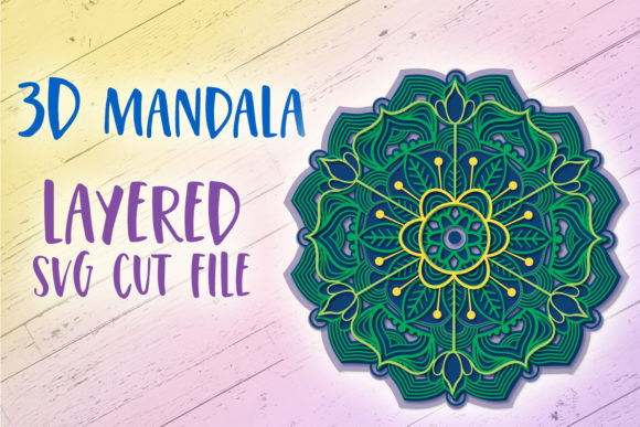 Print on Demand: 3D Mandala | 3D Papercut Mandala Graphic 3D SVG By tatiana.cociorva