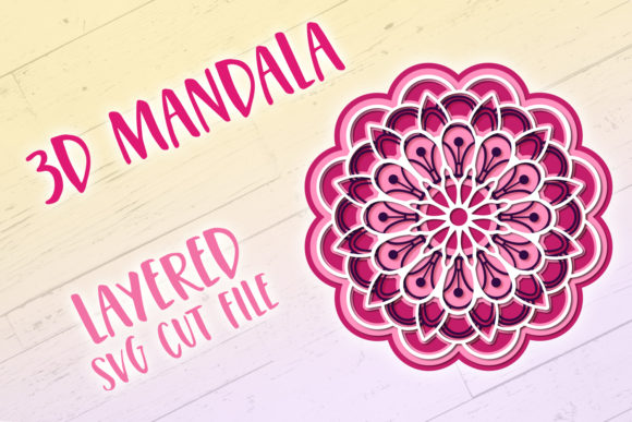 Download Free 3d Mandala Graphic By Tatiana Cociorva Creative Fabrica for Cricut Explore, Silhouette and other cutting machines.