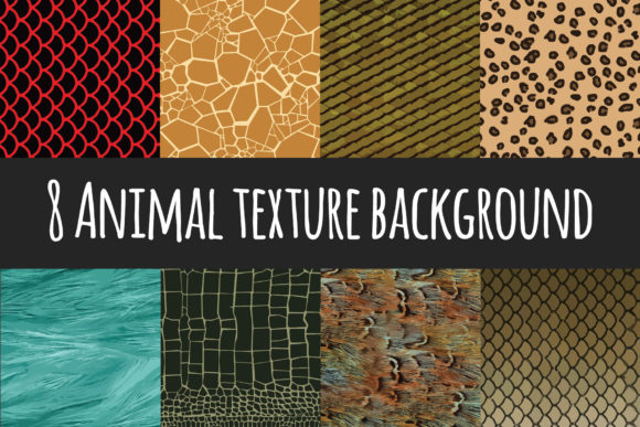 Print on Demand: 8 Animal Texture Background Graphic Textures By Tosca Digital
