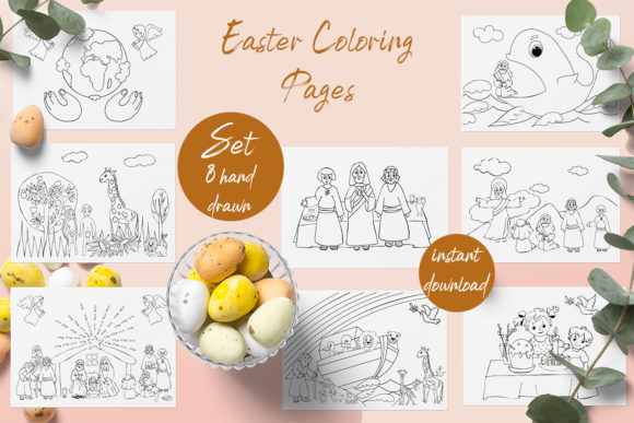 Baby Bible Coloring Book Graphic Coloring Pages & Books Adults By ElenaZlataArt