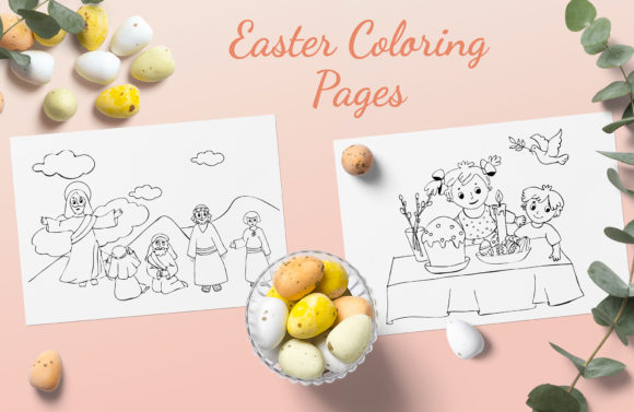 Download Free Baby Bible Coloring Book Graphic By Elenazlataart Creative Fabrica for Cricut Explore, Silhouette and other cutting machines.