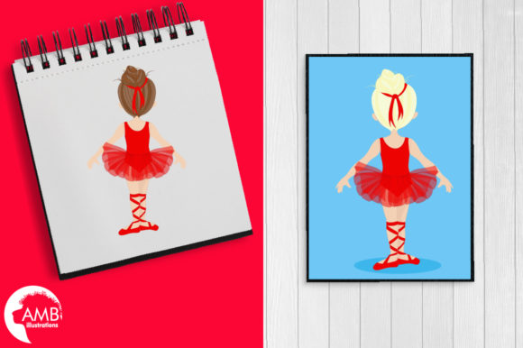 Ballerinas in Red Graphic Illustrations By AMBillustrations - Image 5