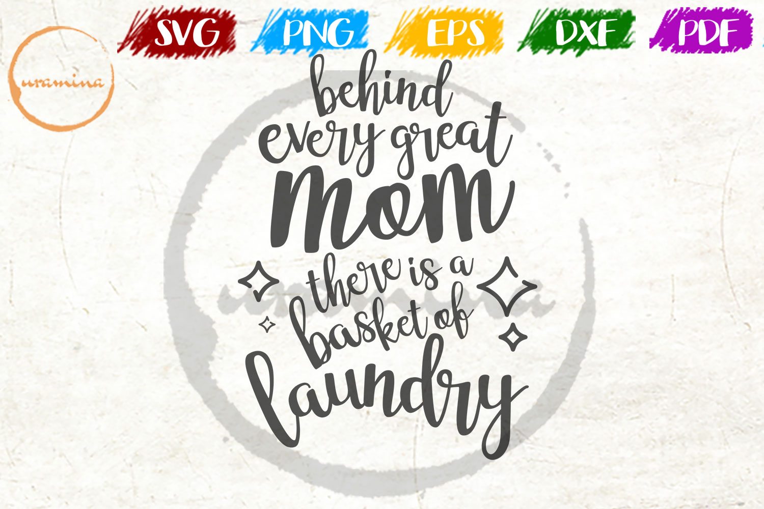 Download Free Behind Every Great Mom Graphic By Uramina Creative Fabrica for Cricut Explore, Silhouette and other cutting machines.