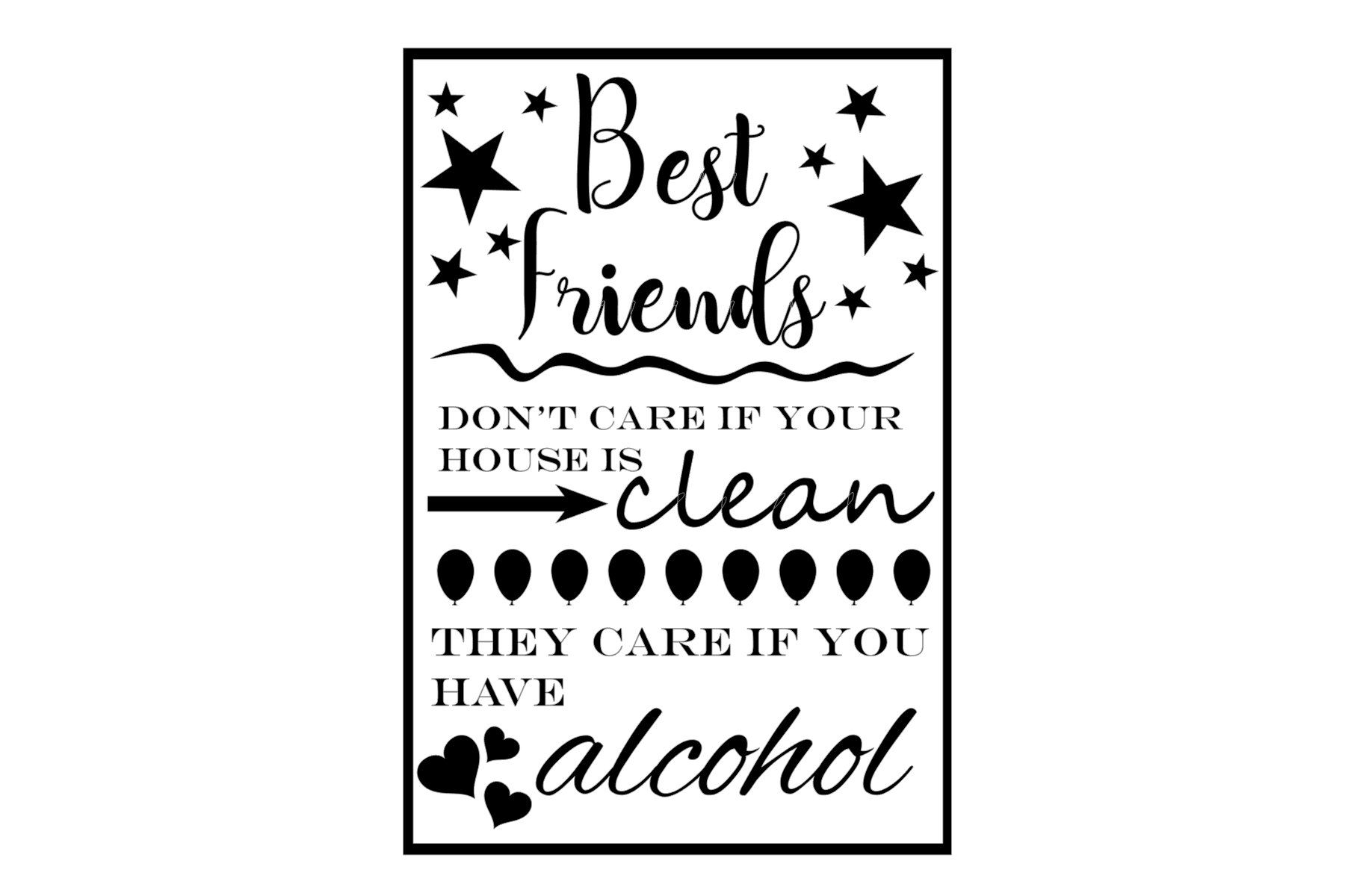 Download Free Best Friends Dont Care Graphic By Tash Jurmann Creative Fabrica for Cricut Explore, Silhouette and other cutting machines.
