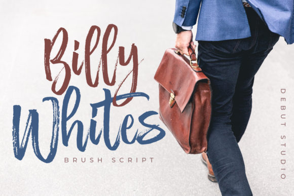 Print on Demand: Billy Whites Script & Handwritten Font By Debut Studio - Image 1