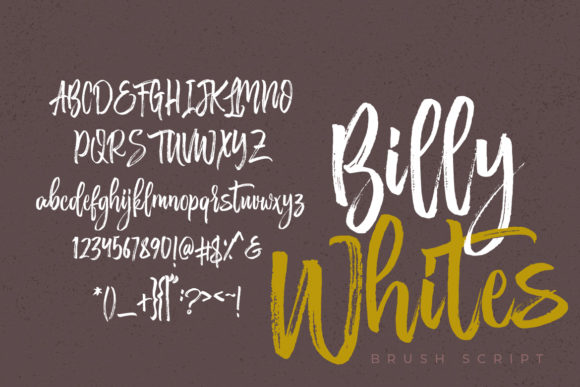 Print on Demand: Billy Whites Script & Handwritten Font By Debut Studio - Image 2