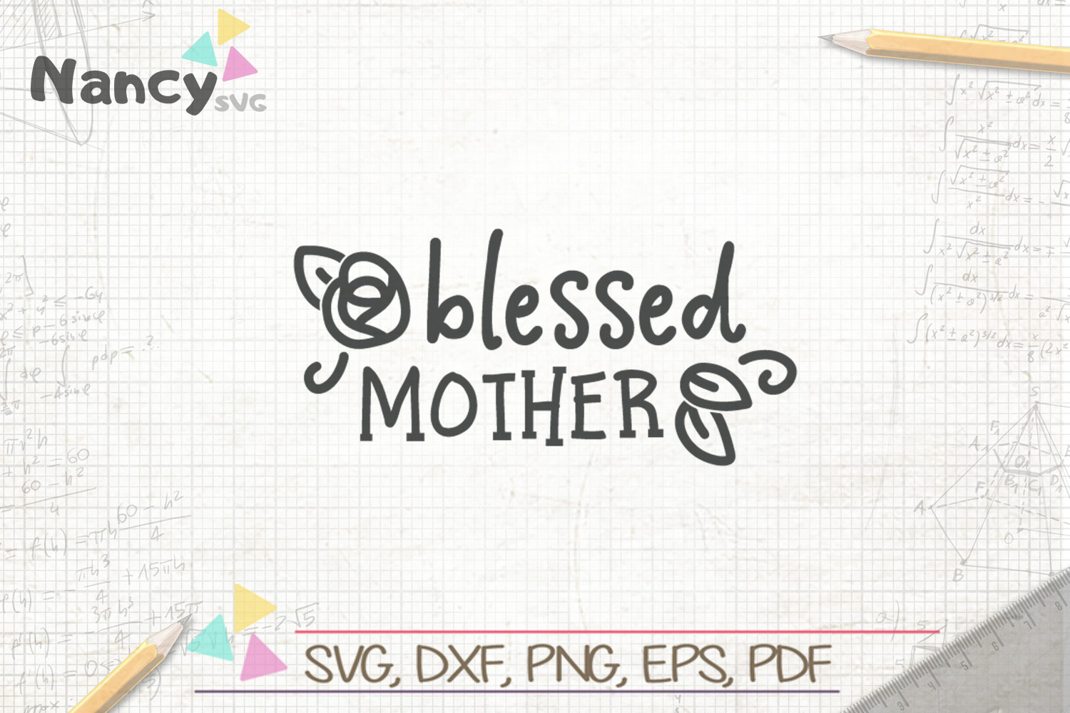 Download Free Blessed Mother Graphic By Uramina Creative Fabrica for Cricut Explore, Silhouette and other cutting machines.