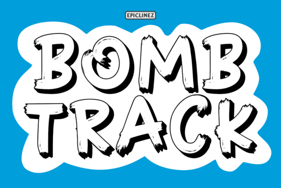 Print on Demand: Bomb Track Display Font By Epiclinez