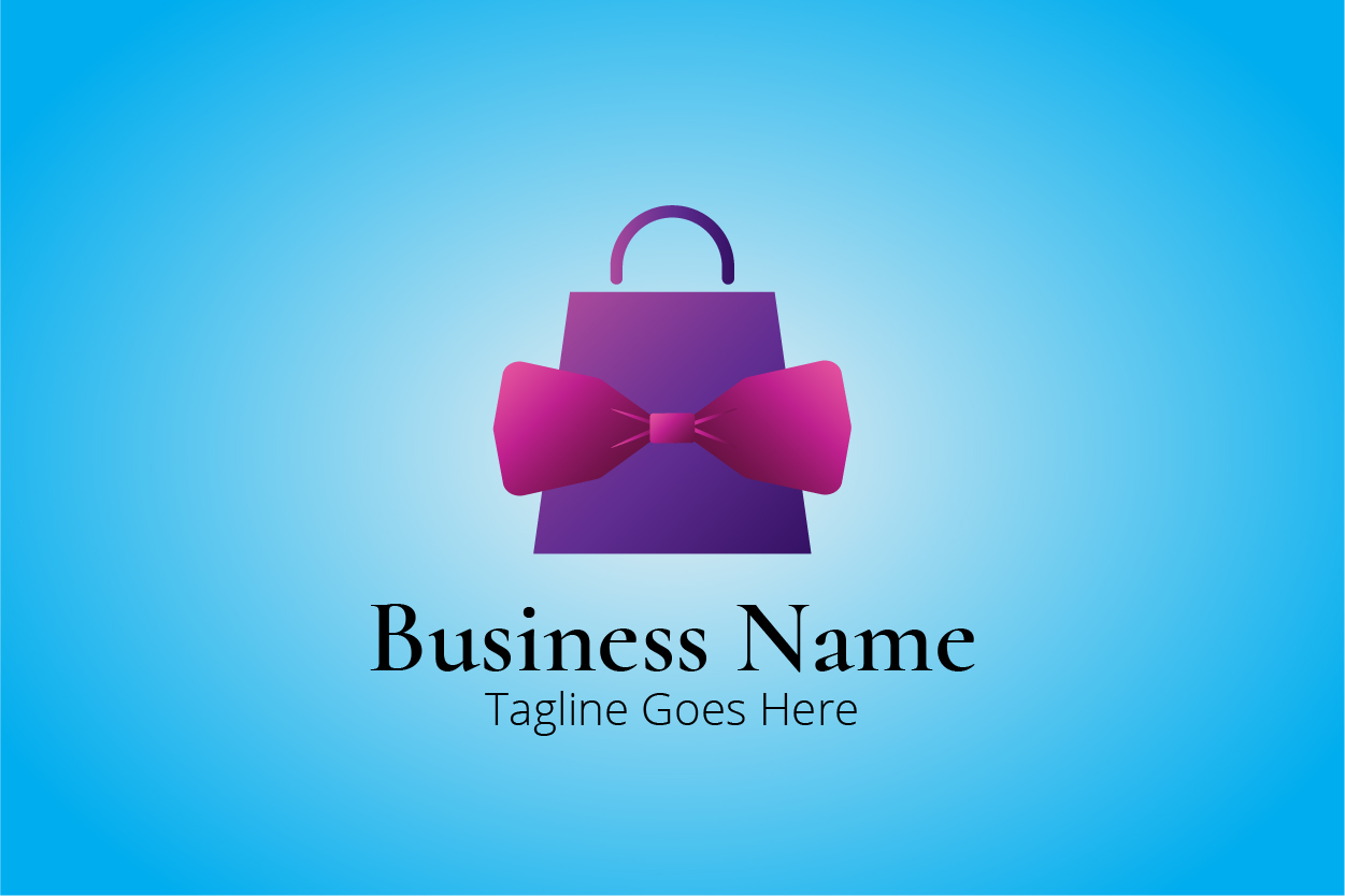 Bow Tie Shopping Bag Logo Template Graphic By Bllinkstudio